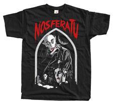 Nosferatu V1, F.W. Murnau, movie poster 1922, T-Shirt (BLACK) ALL SIZES S-5XL