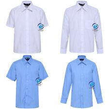 Boys Children Kids School Uniform Shirt Long & Short Sleeve 2 Colours