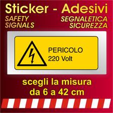 Adesivi Segnaletica Sicurezza / pericolo 220 volt