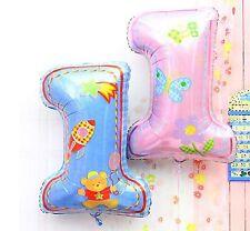 "74cm 3d 1 º 28"" metallic Balloon Birthday Air or Helium Boy Girl Decor"