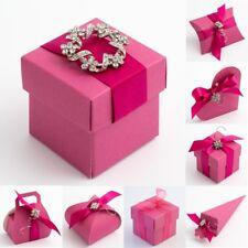 Fuchsia Silk Wedding Favour DIY Gift Boxes