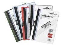 DURABLE Klemm-Mappe DURACLIP® 30, Hartfolie, bis 30 Blatt [Farbe wählbar]