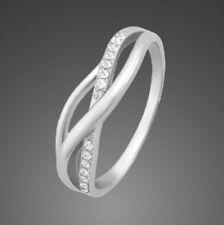 Ring ECHT 925 Silber Zirkonia. Schmuck Ringe Damen Silberringe rhodiniert 💎