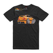 Men's T-shirt AS Colour, Custom Print, Yellow BMW M3 Euro cars.
