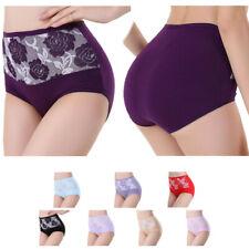 Damen Waist Cotton Pants Panties Hotpants Hipster Plus Size Panty UNTERWÄSCHE
