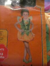 Little Girl Pumpkin Halloween Costume Size S 4 to 6