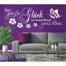 Wandtattoo Spruch  Das große Glück klein Wandsticker Wandaufkleber Sticker 4