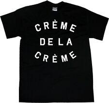 Kings Of NY Creme De La Creme T-Shirt Black Grey Letters Celebrity Fashion NYC