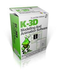NEW 2017 3D Modeling & Animation Studio Software Mac & Windows Disc K-3D