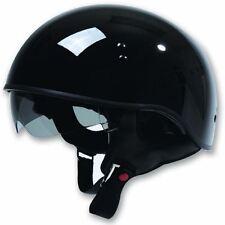 TORC T55 1/2 Half shell Motorcycle Helmet Drop Down Sun Visor Shorty Gloss Black