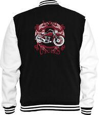 Biker Sweat College Jacke Indian Rot Motorcycle Bike Racing USA