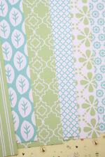 Blue Green Geometric scrapbooking paper Card Stock 250gsm wedding craft postcard