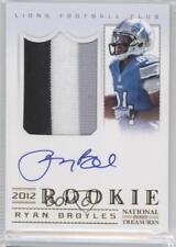 2012 Panini National Treasures 322 Ryan Broyles Detroit Lions Auto Football Card
