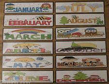 Mesi dell' anno, schede flash ~ Full Colour CARDS ~ DIVERTENTE apprendimento ~ grande 19 cm x 5cm
