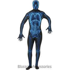 CL914 X-Ray Skeleton Second Skin Suit Skull Mens Zentai Bucks Halloween Costume
