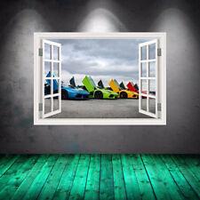 Super Car Lamborghini Sports Cars Window Full Colour Wall Art Sticker WSDW33