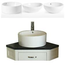 Bathroom Vanity Painted Unit Corner Wash Stand Quartz & Ceramic Basin 501PW