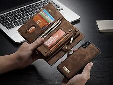 Zipper Karte Wallet Leder Case Hülle Removable Cover Für iPhone X,Samsung Note8