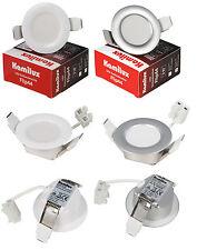 3w-6w FOCO LED para techo empotrable cuartos húmedos pulgas IP44 230v 30mm