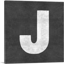 ARTCANVAS Chalkboard Alphabet Letter J Canvas Art Print
