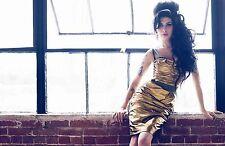 AMY Winehouse RITRATTO FOTO allungato poster artistico in Tela Stampa Back To Black