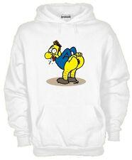Felpa Fun hoodie KJ512 Funny Crazy Inspired Simpson Cartoon Kiss my Ass
