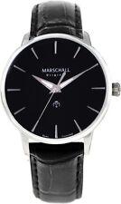 Marschall Original Herren-Funkarmbanduhr Clasico Acero Negro Armbanduhr Funkuhr
