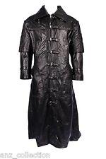 Van Helsing Mens Black Movie Star Overcoat Real Soft Lambs Leather Jacket Coat