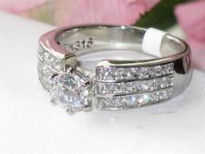 TK997PB linea Donna Anello Di Fidanzamento Set Pave Diamanti Simulati in acciaio inox