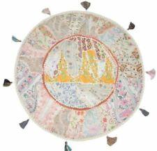 Indian Round Cushion Cover Decorative Vintage Boho Throw Handmade Pillow Case