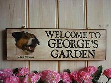 BESPOKE WELCOME SIGN GARDEN SIGN DOG SIGN JACK RUSSELL SIGN GATE SIGN HANDMADE