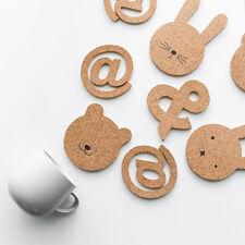Cute Cartoon Cork Cup Cushion Holder Drink Placemat Home Tea Mat Set of 2 or 3