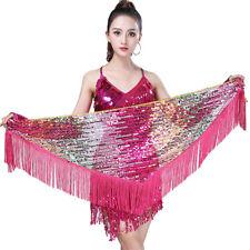 Belly Dance Costume Hip Scarf Bellydance Belt Wrap Skirt Sequin Outfits Fringe #