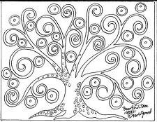 RUG HOOK Crafts PAPER PATTERN Bountiful Tree FOLK ART Abstract Primitive KARLA G