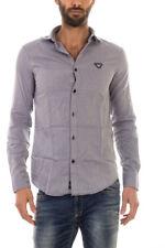 Camicia Armani Jeans AJ Shirt % Uomo Blu 6X6C206N08Z-2501