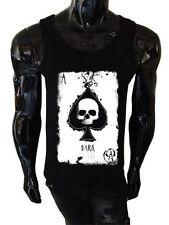Mens Ace of Spades Tank top SCREENPRINTED Rock metal skull skeleton death hand