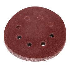 100pcs 5'' / 125MM Orbit Sanding Sand Paper Discs 40g-800g Grit Sander ,8 Holes