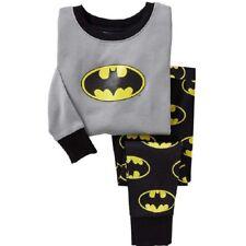 Batman superhero boys cotton long sleeve pjs clothing size 1 2 3 4 5 6 sleepwear