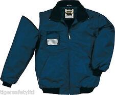Delta Plus Panoply Reno Navy Blue Mens Outdoor Bomber Jacket Rain Coat BNWT
