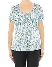 Damen Tesini Linea Shirt Blumen Glitzer Tunika T-Shirt Bluse Top 085374