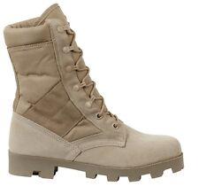 "DESERT TAN SPEEDLACE 9"" Jungle BOOTS Non - USGI Military Army Marine Corps USMC"