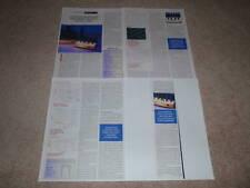 Conrad-Johnson Premier 12 Amplifier Review,1994, 4 pgs