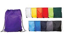 Wholesale coloured drawstring rucksack bag PE bagpack swim gym school 1-250 bulk