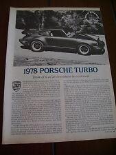 1978 PORSCHE 911 TURBOCHARGED  ***ORIGINAL  ARTICLE / ROAD TEST***