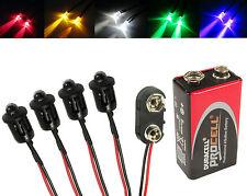 4x Rc Helicóptero Auto Avión Luces Led + PP3 Conector Batería Kit Todos Los Colores