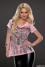 Women's Wear Stylish Patterned Top Blouse T-Shirt UK size 8-10