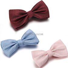 Fashion Classic Men Wedding Bowtie Necktie Solid Color Adjustable Bow Tie Tuxedo