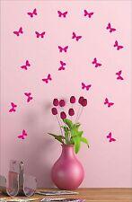 20 BUTTERFLIES butterfly sticker decal vinyl wall art nursery kids child room B2