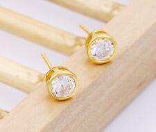 SALE 9K Gold Filled Men Girl 4.5 - 7 made with Swarovski Crystal Earring 522g