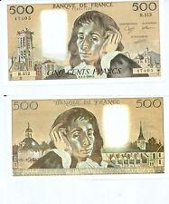 Gertbrolen 500 FRANCS PASCAL du 1-2-1990    R. 312 Billet Numéro  779147405